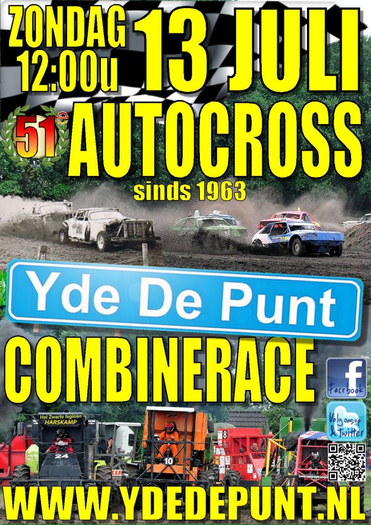 51e Autocross en Combinerace Yde De Punt 13 juli 2014